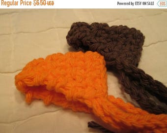25% OFF STORE SALE Crocheted Nose Warmers Set of 2 Orange and Brown