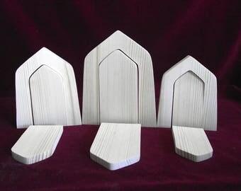 3 Basic Fairy Door Frames