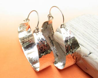 Wow Factor X 10 Exra Large Hammered Sterling Silver Hoop Earrings
