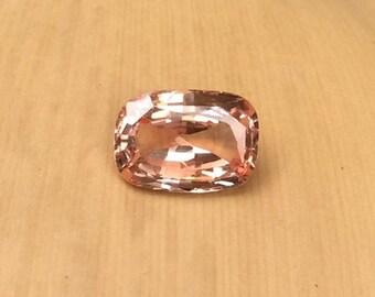 Natural Genuine Padparadscha Sapphire - 7.31 x 10.57mm, 4.01mm deep Rectangular Cushion shape Loose Sapphire Gem, 3.03 carats - LSG776