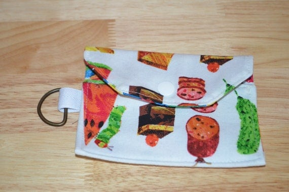 READY To SHIP Hungry Food Snack Small Wallet Pouch