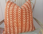 African mudcloth Rust  mini arrows mud cloth pillow cover