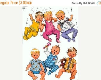 ON SALE Vintage 1970s Babies Layette Sewing Pattern Simplicity 9639 70s Sewing Pattern Size Newborn