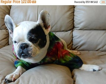 Dog Days of Summer Indigo Tie Dye Cotton T Shirt Medium Dog Size -Carla Smale