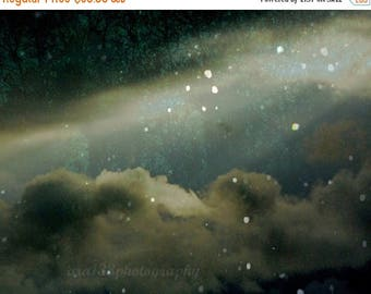 50% OFF SALE Night Sky Photograph Dark Abstract Picture Landscape Photo Starry Celestial Wall Art  8x10 inch Print At Tara In This Fateful H