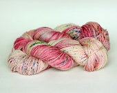 SMITTEN, twisted red label hand dyed merino, cashmere, silk fingering weight yarn