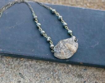 Brachiopad Fossil Necklace