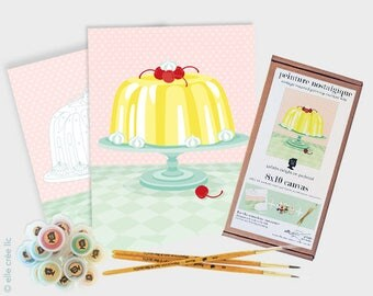 gelatin delight on pedestal - 8x10 paint-by-number kit