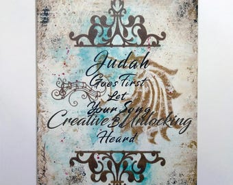 Judah Goes First ...   High Quality Laser Art Print.. Prophetic Art
