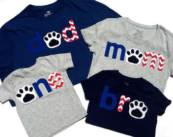 o n e, bro, mom, dad //First Birthday//Dog Theme// Puppy Dog//Fabric Iron On Applique Letters//Other Numbers Available//NEW DESIGN