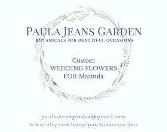 Custom for Marinda Montana and Lavender Wedding Bouquets, Boutonnieres, Arbor Decor,