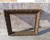 ON SALE Vintage Antique 1900 Victorian  French gilted stucco  gesso open frame