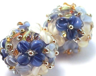 Gilded Blueberries and Cream Crystal Rounds