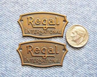 Regal Brass Tag Advertising Ephemera Antique Tube Radio ID Name Plate Repurpose Hardware