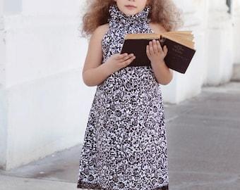 SALE Poet Collar Top/Dress Sewing Pattern/Tutorial PDF sizes 0m - 12 girls Instant