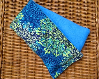 Therapy Rice Bag, Microwave Heat Pack, Rice Heating Pack, Therapy Sack, Blue Starburst , Washable Cover,
