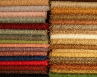 PICK you own 5 colors of SCHULTE mohair, pile 15 mm,  3x 25cm/35cm =about 3 x 1/16