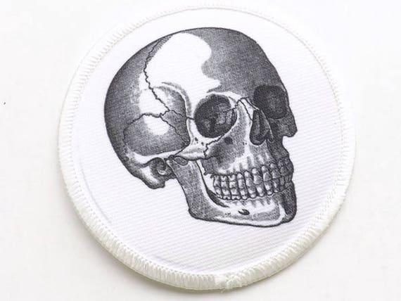 Anatomy Iron On Patch skull anatomical heart brain skull spine graduation gift medical student nu goth fashion nerd geek dork punk grunge