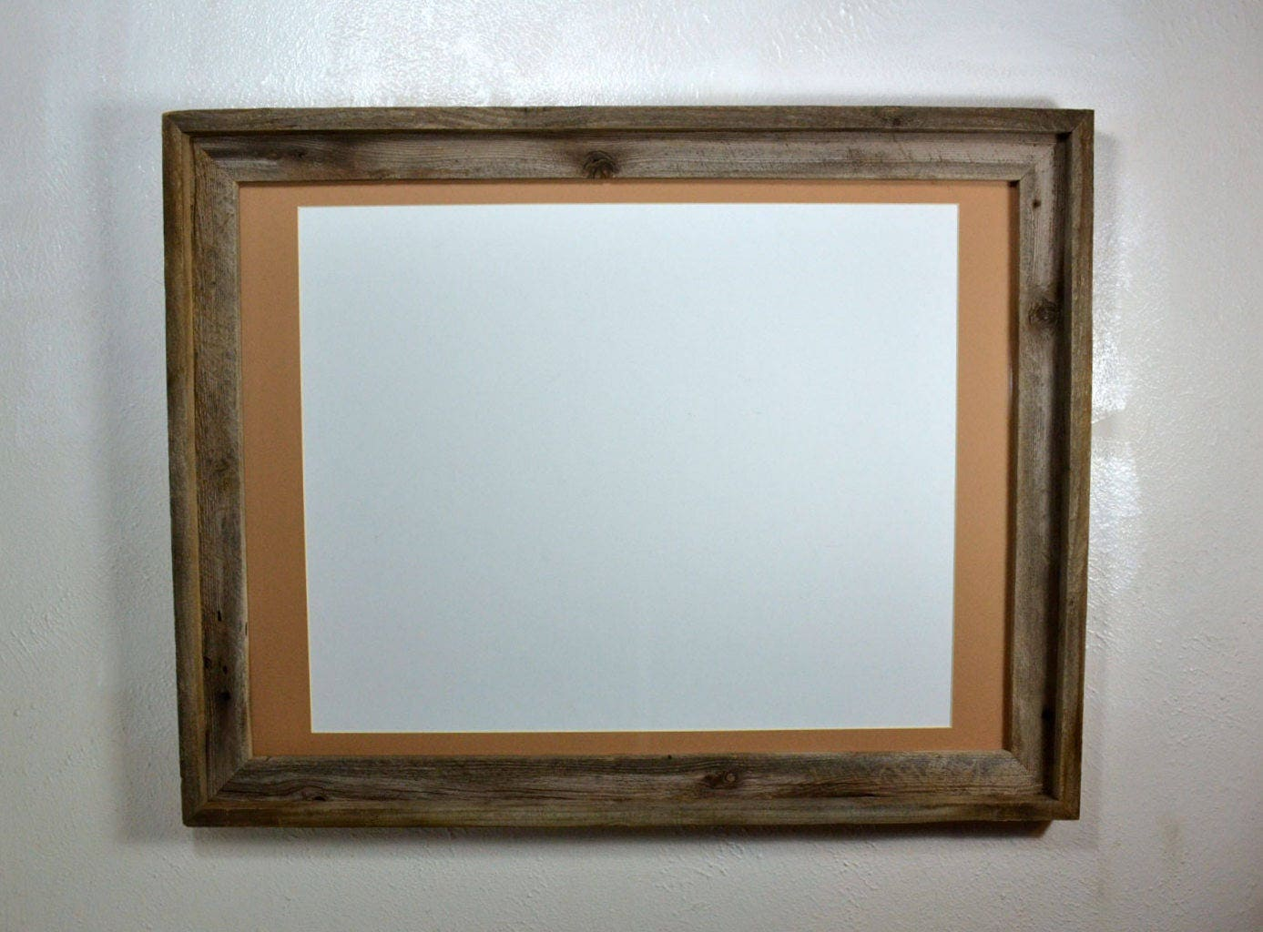 18x24 Rustic Wood Frame With Tan Mat For 16x20 11x17 12x18