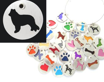 Belgian Sheepdog Sterling Silver Necklace Pendant Charm - Lots of Colors
