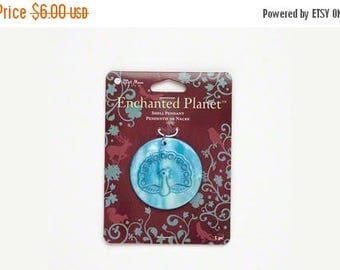 ON SALE 50% OFF Blue Moon Peacock Mother of Pearl Shell Pendant