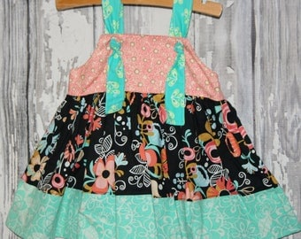 Going out of business SALE, girls knot dress ,size 6-12M girls dress, Ready to ship