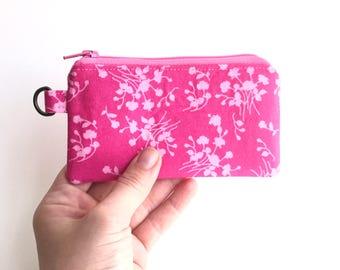 c coin purse. zipper change pouch cardholder. cute small gift idea. coin change zipper pouch