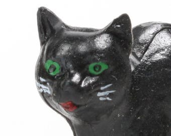 Halloween black cat | Etsy