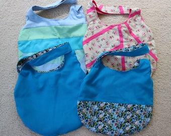Knot Bag - various vintage fabrics, pink, green, blue