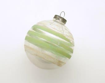 Vintage Christmas Decoration Glass Ornament Shiny Brite Unsilvered MCM Christmas