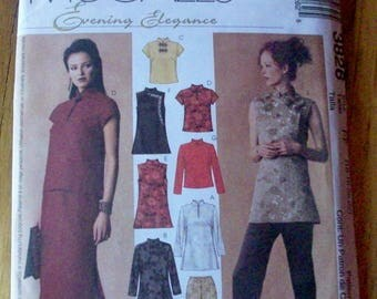 McCalls 3826 Evening Elegance Top,  pants and skirt sewing pattern
