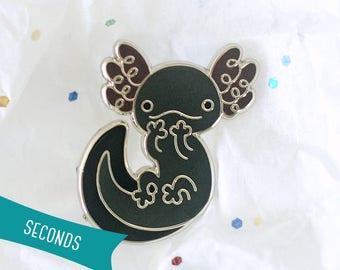 Axolotl Enamel Lapel Pin ~ Umeboshi (SECONDS SALE)