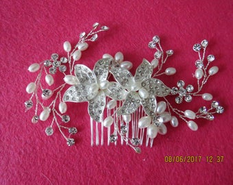 Wedding hair Comb, rhinestone hair comb