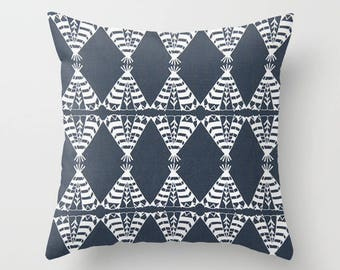 Teepee Pillow cover Tribal Pillow Cover Decorative Pillow Cover RV Pillow Hunting Pillow Color Choices
