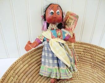 vintage mexican doll folk art