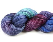 Dream Weaver--hand dyed sock weight yarn, merino, nylon and stellina, (438yds/100gr)