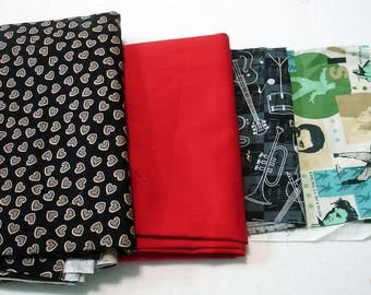 Fabric By The Pound, Fabric Grab Bag - 1 Pound - All Sizes & Colors, 4 Dollars A Pound
