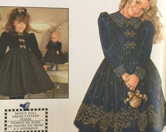 Simplicity 7788 Daisy Kingdom Childs Dress and Doll Dress Pattern, size 8-14, uncut