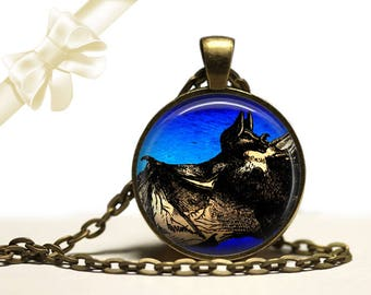 Night Bat brass Pendant Necklace Free Shipping Gifts for her