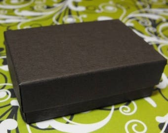 New Years Sale 100 Pack Chocolate Brown 3.25X2.25X1 Inch Cotton Filled Jewelry Gift Retail Boxes