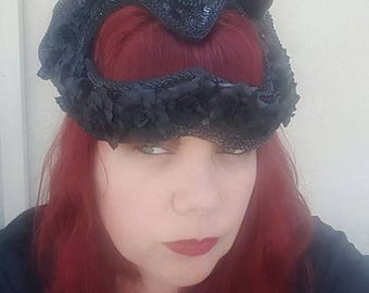 Black metal, Black horns, Burning Man, EDM, Gothic, Goth, Black heart, Cosplay, Death Metal, Horn headdress, Skull, Skull headdress
