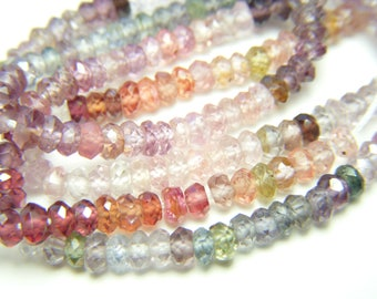 Multi Spinel Roundels - Half Strand - 3mm - 7 Inches