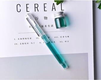 Simple Sleek Transparent Fountain Pen