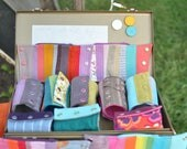 wrist wallet - custom color patchwork - pearl snaps - denim - western - all sizes