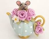 1/12TH scale floral teapot with mouse