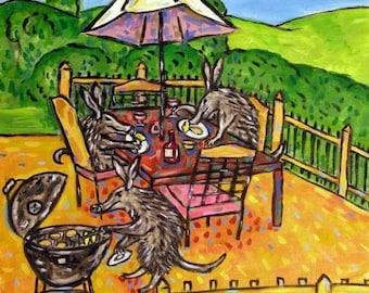 20% off Ardvark , TILE, coaster, gift, modern, aardvark art, aardvark print, cooking out, ceramic, gift, modern, folk art