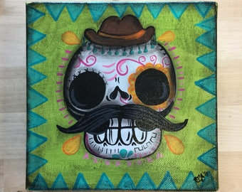 Enrique- calaca original painting