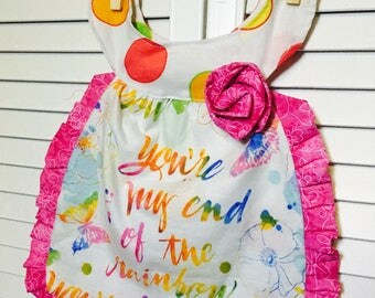 Fancy Girl Bib Dress - Reversible Girls Bib that can be worn as a dress - Perfect for Pictures, Birthday, Baby Shower Gifts fits 6-24 months