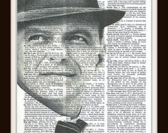 Frank Sinatra - Vintage Dictionary Art Print--Fits 8x10 Mat or Frame
