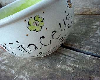 Pottery bowl Personalized ice cream bowl ceramic pottery custom cereal bowl popcorn bowl salad bowl kids teen adult custom ice cream bowls